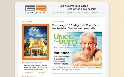 Screenshot of Home Page grdesigneditorial.com.br - ::: GR Design Editorial ::: - captured Sept. 26, 2014