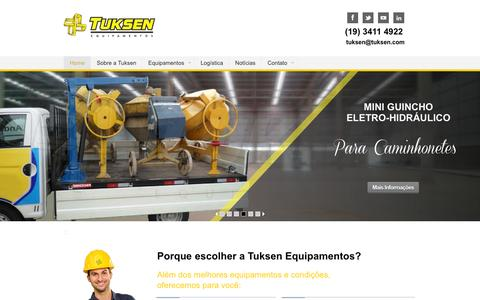 Screenshot of Home Page tuksen.com - Tuksen - Venda de Container Desmontável para Canteiro de Obra - captured Jan. 31, 2016