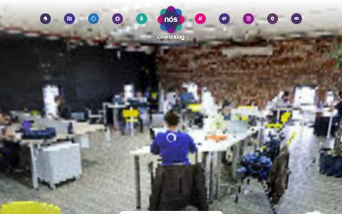 Screenshot of Home Page noscoworking.com.br - Nós Coworking - captured Oct. 8, 2014