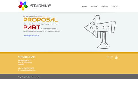 Screenshot of Contact Page starhive.com - StarHive Contact - StarHive - captured Oct. 7, 2014
