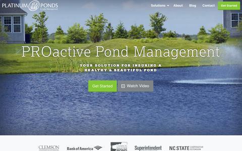 Screenshot of Home Page platinumlakemanagement.com - Platinum Ponds & Lake Management Greenville SC | Charlotte NC | Asheville NC - captured July 9, 2017
