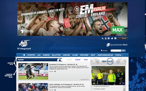 Screenshot of Press Page fkh.no - Nyheter  | Haugesund - captured Oct. 6, 2014