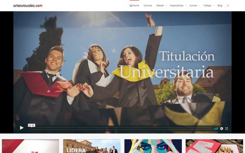 Screenshot of Home Page artesvisuales.com - artesvisuales :: elearning diseño, web y motion - captured Sept. 23, 2018