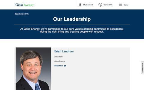 Screenshot of Team Page gexaenergy.com - Company Leadership | Gexa Energy - captured Aug. 13, 2019
