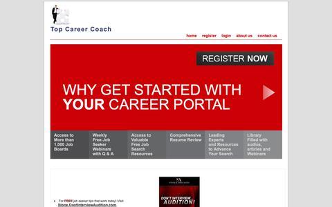 Screenshot of Home Page topcareercoach.com - Top Career Coach - captured Oct. 23, 2018