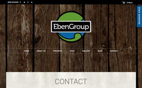 Screenshot of Contact Page ebengroup.com - EbenGroup | Contact Us - captured Sept. 27, 2014