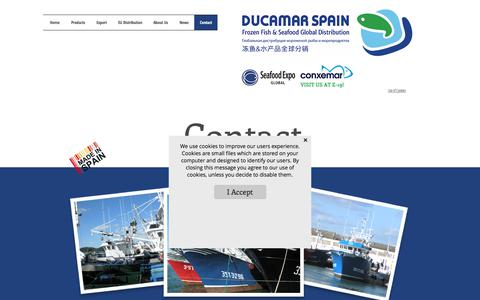 Screenshot of Contact Page ducamar.com - Contact Information | Ducamar Spain - captured Oct. 12, 2017