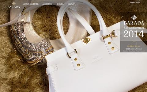 Screenshot of Home Page baradaluxury.com - Leather Handbags and Leather Goods - Barada Luxury - captured Sept. 23, 2014