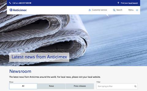 Screenshot of Press Page anticimex.com - Latest news from Anticimex - Anticimex - captured Nov. 21, 2016