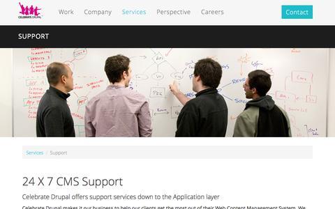 Screenshot of Support Page celebratedrupal.com - Support   Celebrate Drupal - captured Dec. 7, 2015