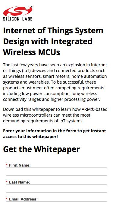 Internet of Things System Design with Integrated Wireless MCUs  | Silicon Labs