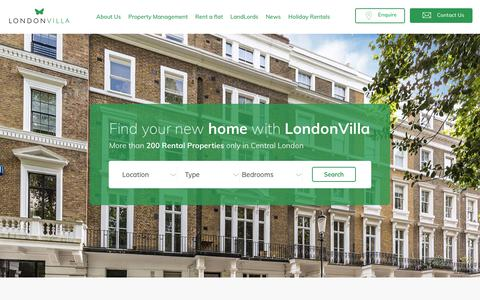 Screenshot of Home Page londonvilla.co.uk - Homepage - London Villa - captured July 22, 2018