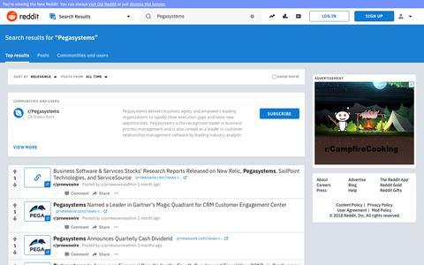 reddit.com: search results - Pegasystems