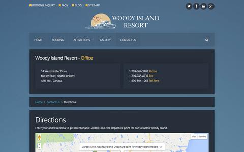 Screenshot of Maps & Directions Page woodyi.com - Directions - Woody Island Resort - captured Oct. 26, 2014
