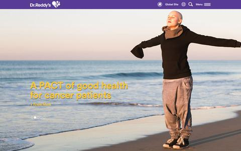 Screenshot of Home Page drreddys.com - Dr.Reddy's - captured Dec. 7, 2015