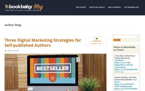 Screenshot of Blog bookbaby.com - author blog | BookBaby Blog - captured Feb. 27, 2017