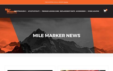 Screenshot of Press Page milemarker.com - NEWS – Mile Marker Industries - captured Nov. 2, 2017