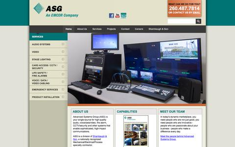 Screenshot of Home Page advsysgrp.com - Advanced Systems Group (ASG) :: Home - captured Oct. 7, 2017