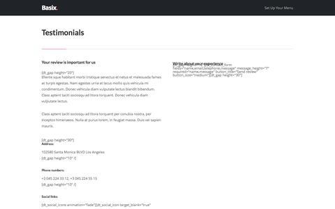 Screenshot of Testimonials Page ozitect.com - Testimonials – OziTect - captured Oct. 7, 2014