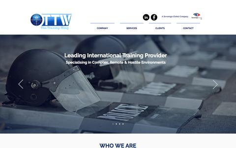 Screenshot of Home Page the-training-wing.com - The Training Wing - captured Nov. 17, 2017