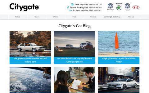Screenshot of Press Page citygate.co.uk - VW, Kia and ŠKODA News | Citygate - captured July 31, 2017