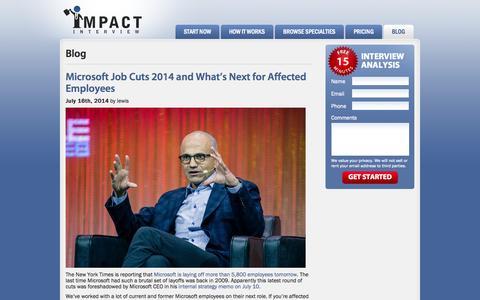 Screenshot of Blog impactinterview.com - Blog | Impact Interview | Impact Interview - captured Sept. 19, 2014