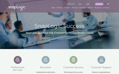Screenshot of Services Page snaplogic.com - Services - Snaplogic - captured Sept. 3, 2017