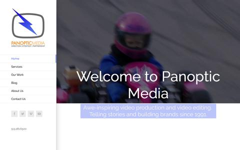 Screenshot of Home Page panopticmedia.com - Video Production | Panoptic Media | Cincinnati Video Production - captured Dec. 7, 2018
