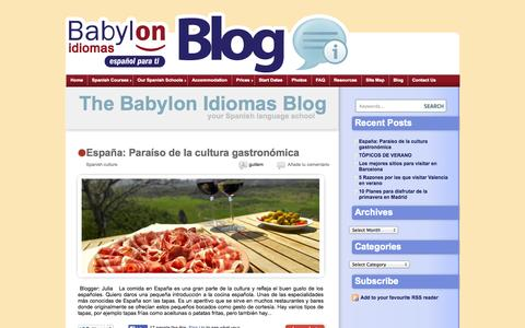Screenshot of Blog babylon-idiomas.com - The Babylon Idiomas Blog - your Spanish language school - captured Sept. 22, 2014