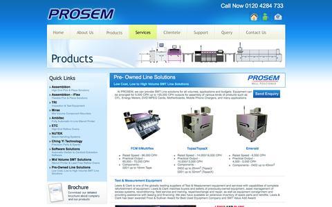 Screenshot of Services Page prosemtechnology.com - :: Prosem :: - captured Jan. 23, 2016
