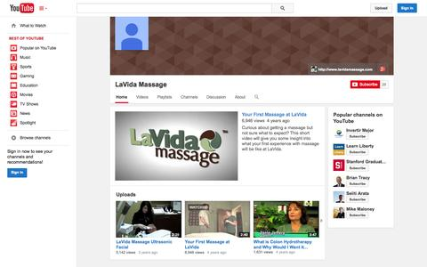 Screenshot of YouTube Page youtube.com - - YouTube - captured Oct. 22, 2014