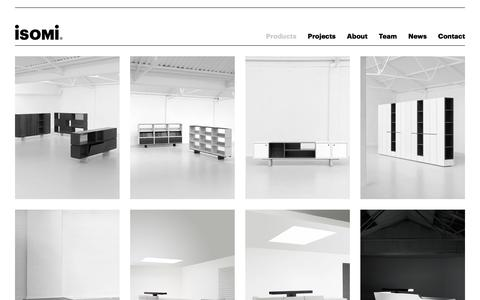 Screenshot of Products Page isomi.com - Isomi | Furniture | Products - captured Sept. 20, 2018