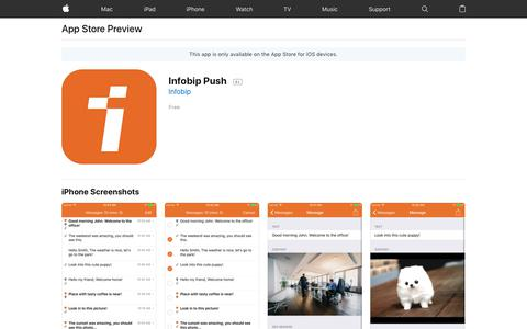 Infobip Push on the AppStore