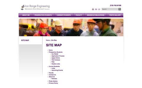 Screenshot of Site Map Page mnscu.edu - Site Map - captured Oct. 27, 2014