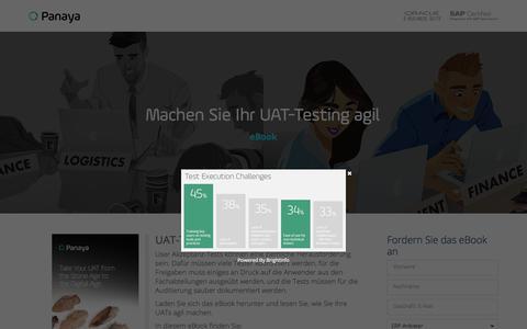 Screenshot of Landing Page panaya.com - Modern Age UAT Testing eBook - captured Sept. 7, 2017
