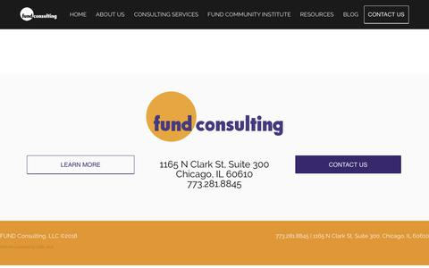 Screenshot of Services Page fundconsulting.com - Services OLD - FUND Consulting - captured Nov. 6, 2018