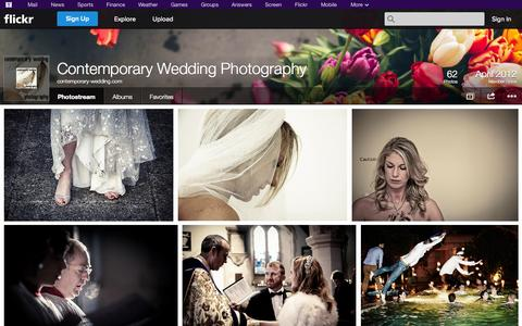 Screenshot of Flickr Page flickr.com - Flickr: contemporary-wedding.com's Photostream - captured Nov. 2, 2014