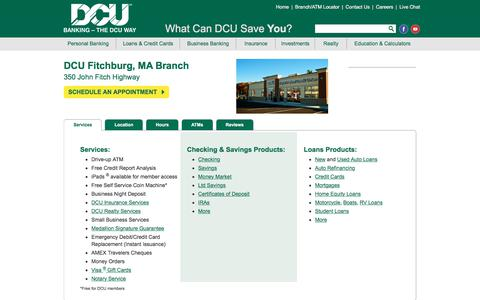 DCU Branch Location in Fitchburg | Massachusetts