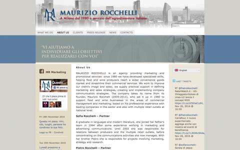 Screenshot of About Page rocchelli.eu - About Us | Maurizio Rocchelli Marketing - captured Nov. 28, 2016