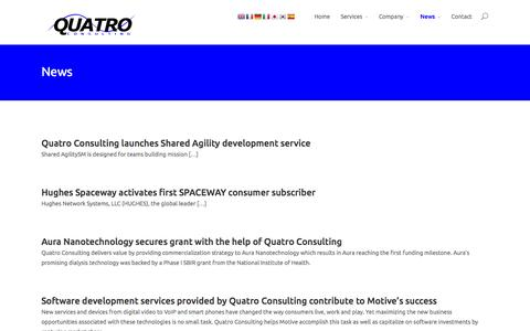 Screenshot of Press Page quatroconsulting.com - News | Quatro Consulting - captured Oct. 27, 2014