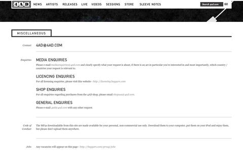 Screenshot of Privacy Page Jobs Page 4ad.com - 4AD - Miscellaneous - captured Nov. 5, 2014