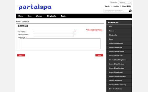 Screenshot of Contact Page portalspalacehotel.com - Contact Us : Wholesale,Loafers,Sunglasses,Belts,Sandals,Sneakers,2017 Summer - captured Sept. 30, 2018