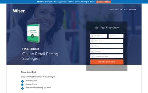 Screenshot of Landing Page wiser.com - Pricing Strategies eBook - Wiser - captured Oct. 27, 2016