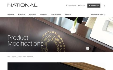 Product Modifications | National Office Furniture