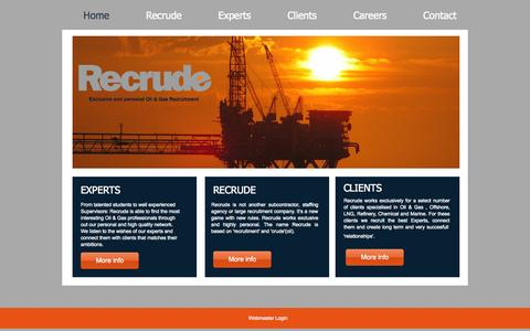 Screenshot of Home Page recrude.eu - Recrude - captured Sept. 30, 2014