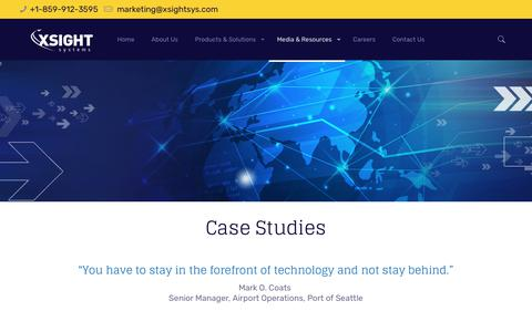 Screenshot of Case Studies Page xsightsys.com - Case Studies – Xsight Systems - captured Oct. 19, 2018