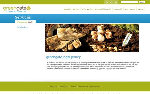Screenshot of Terms Page greengate.ca - Perennial pre-planting - captured Oct. 3, 2014