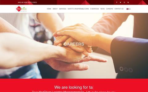 Screenshot of Jobs Page hazchemlogistics.com - Welcome to HazChem Logistics Management - captured Dec. 14, 2018