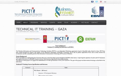 Screenshot of Jobs Page picti.ps - JOBS - captured Oct. 5, 2014