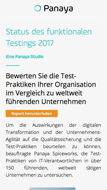 Status des funktionalen Testings 2017